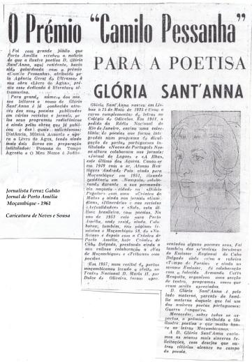GdSA Premio Camilo Pessanha Jornal de Mocambique para SITE